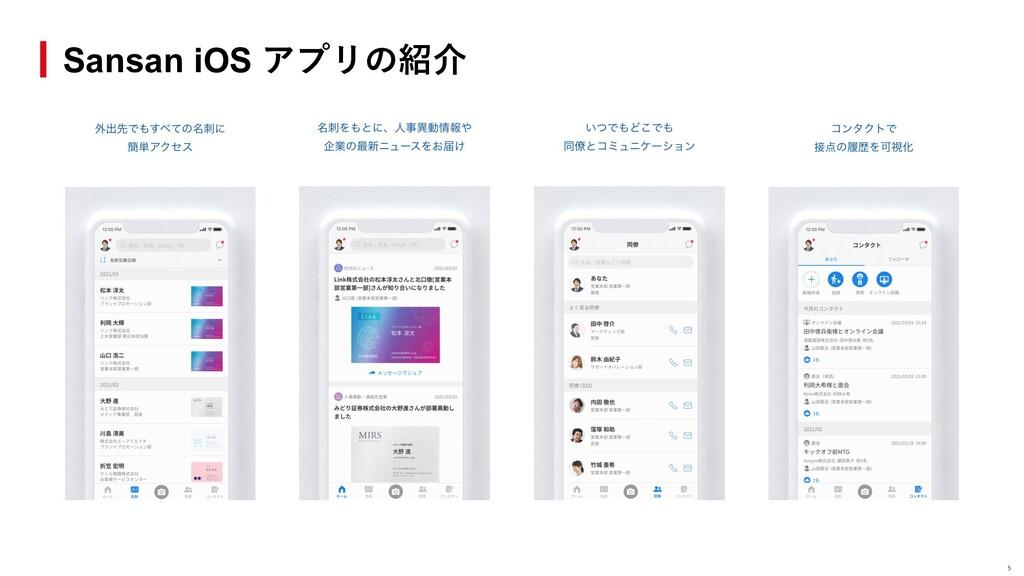 Sansan iOS アプリの紹介 5