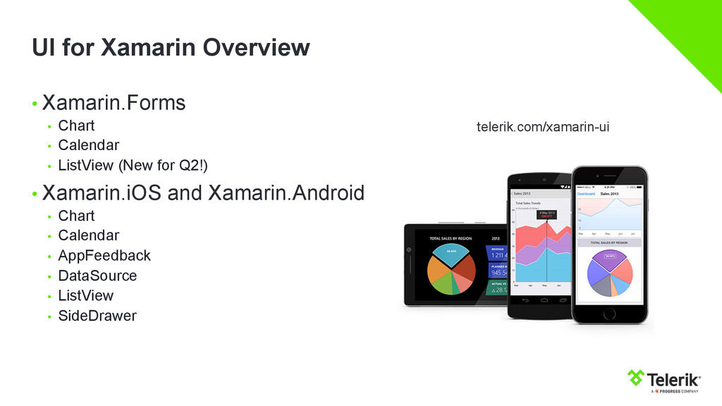 UI for Xamarin Overview • Xamarin.Forms • Cha...
