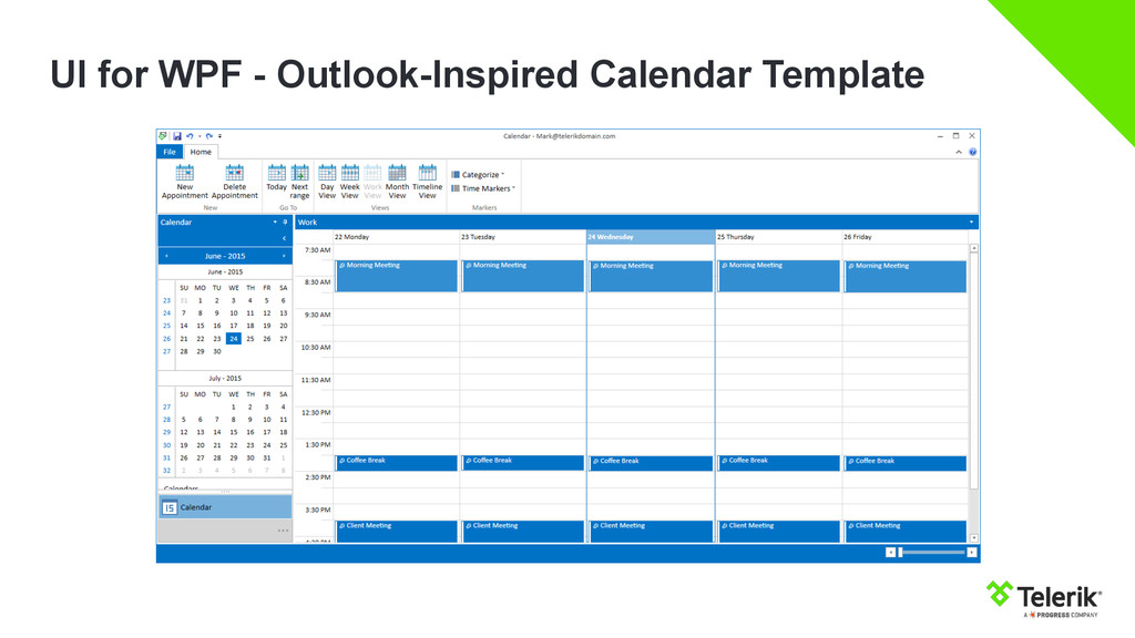 UI for WPF - Outlook-Inspired Calendar Template