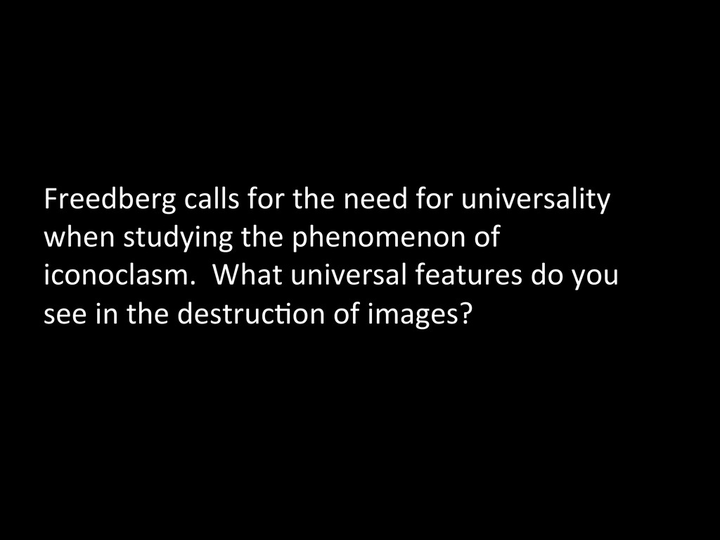 Freedberg calls for the need for...