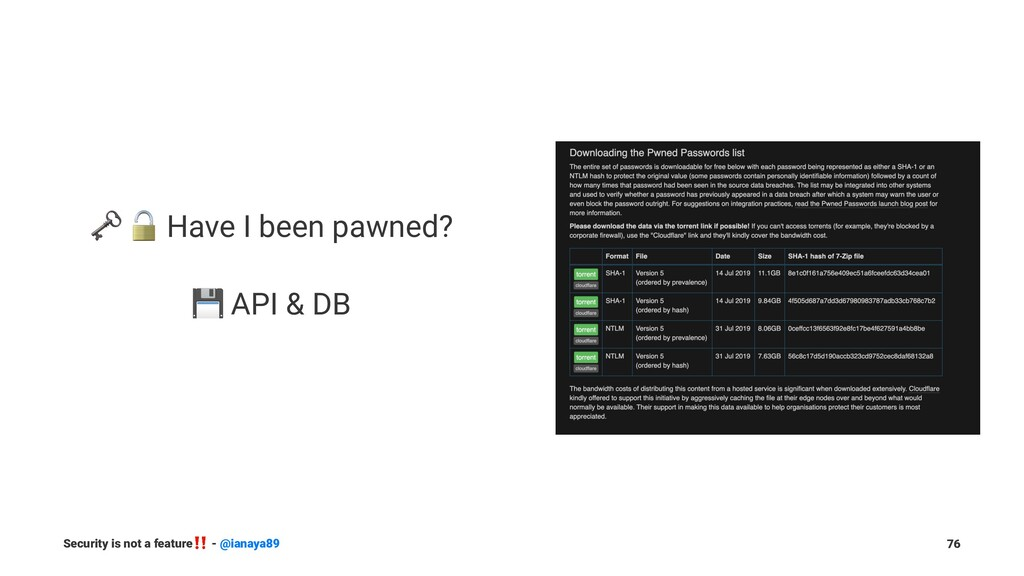 "! "" Have I been pawned? ! API & DB Security is ..."