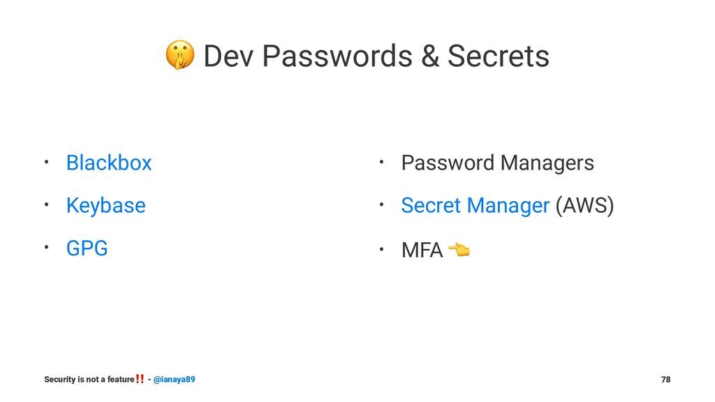 ! Dev Passwords & Secrets • Blackbox • Keybase ...