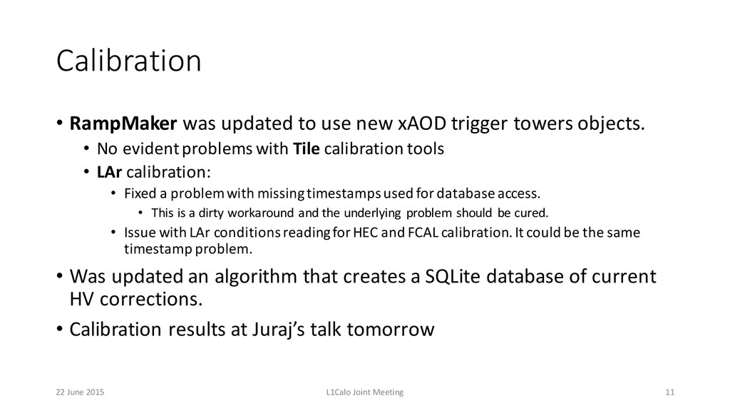 Calibration • RampMaker was updated to use ...