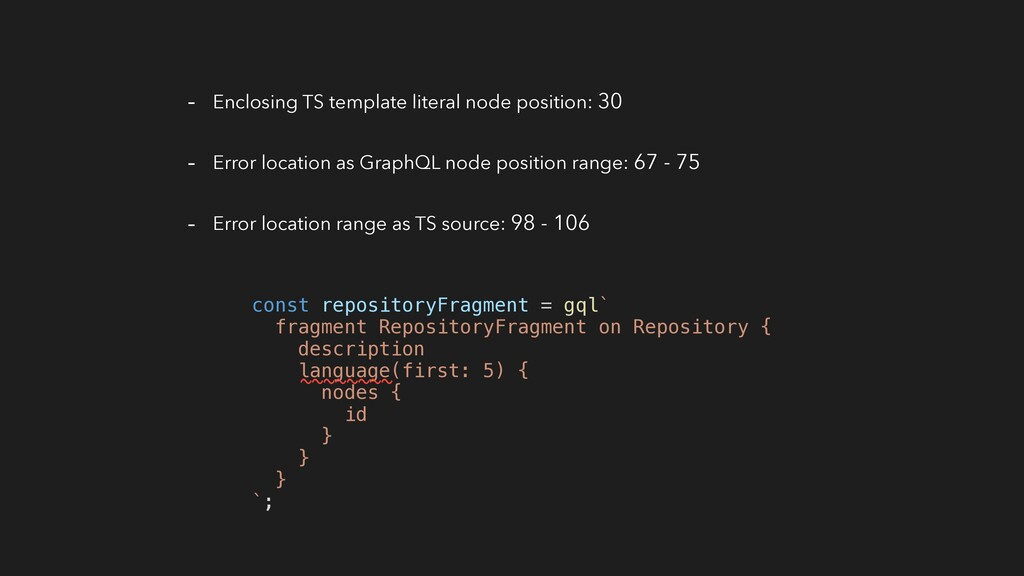 - Enclosing TS template literal node position: ...