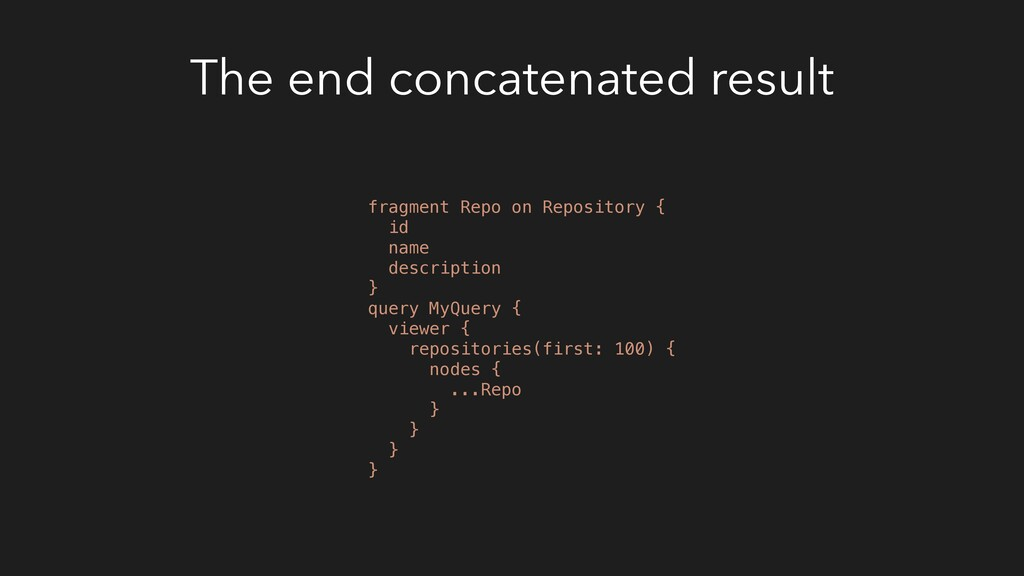 The end concatenated result fragment Repo on Re...