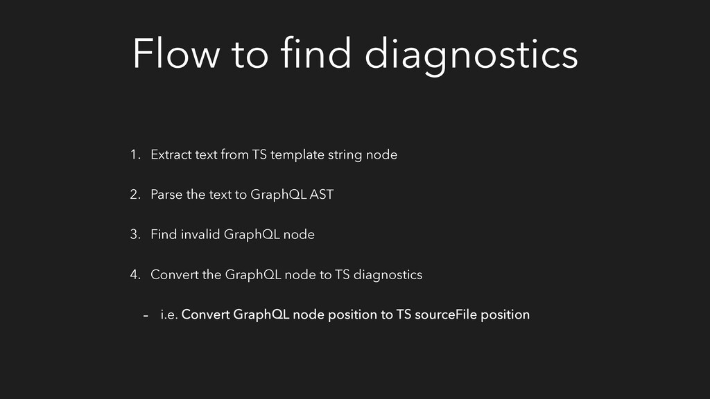 Flow to find diagnostics 1. Extract text from TS...