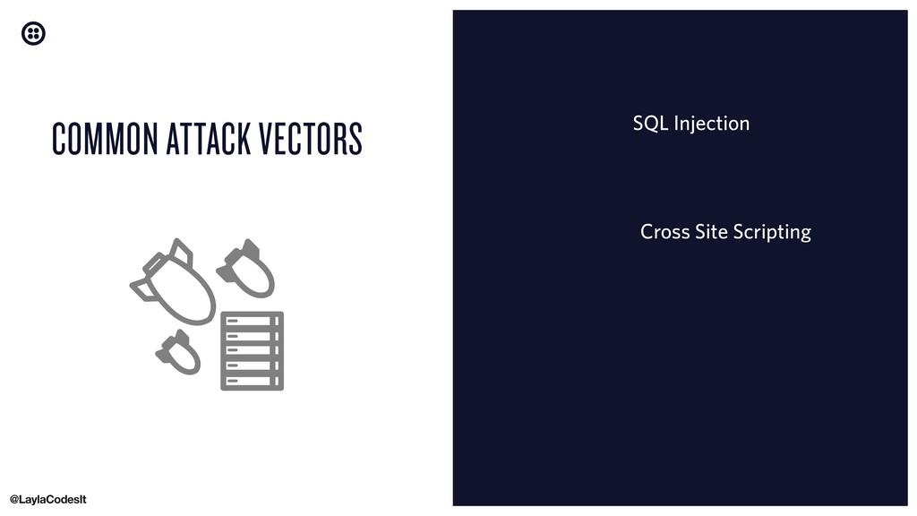 COMMON ATTACK VECTORS Cross Site Scripting SQL ...