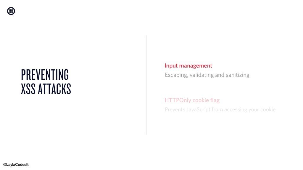 PREVENTING XSS ATTACKS HTTPOnly cookie flag Esc...
