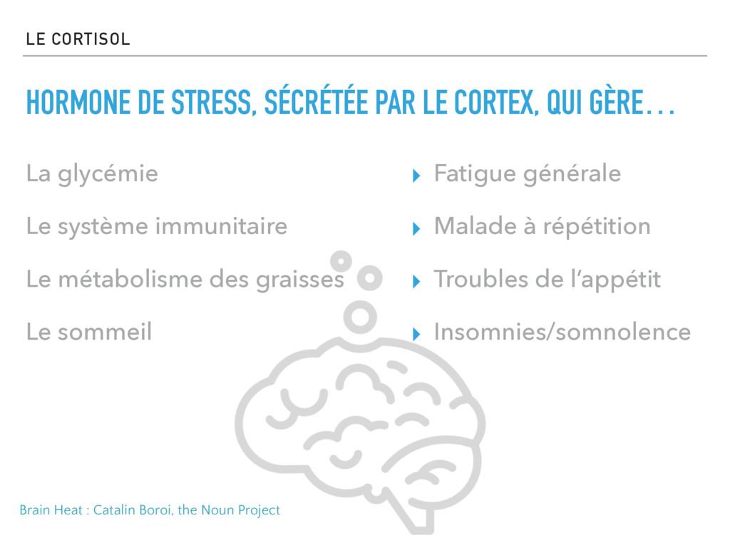 LE CORTISOL HORMONE DE STRESS, SÉCRÉTÉE PAR LE ...
