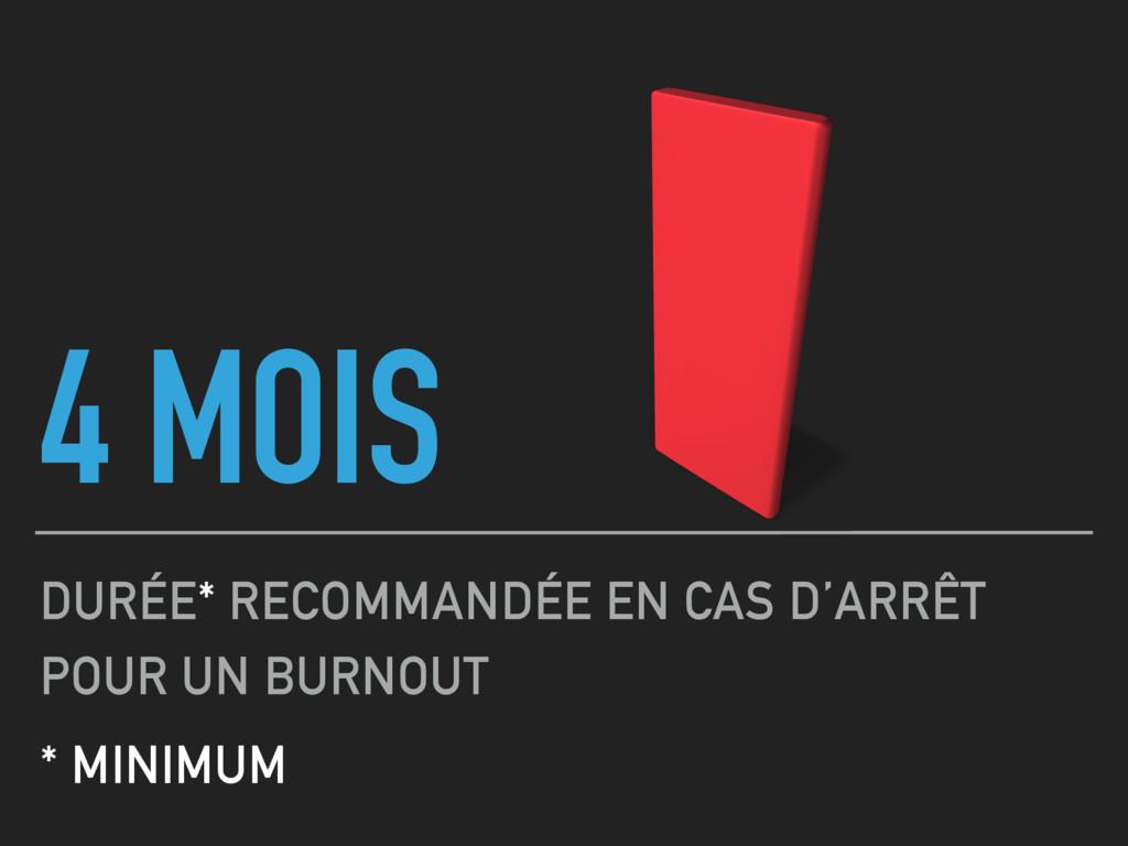 4 MOIS DURÉE* RECOMMANDÉE EN CAS D'ARRÊT POUR U...