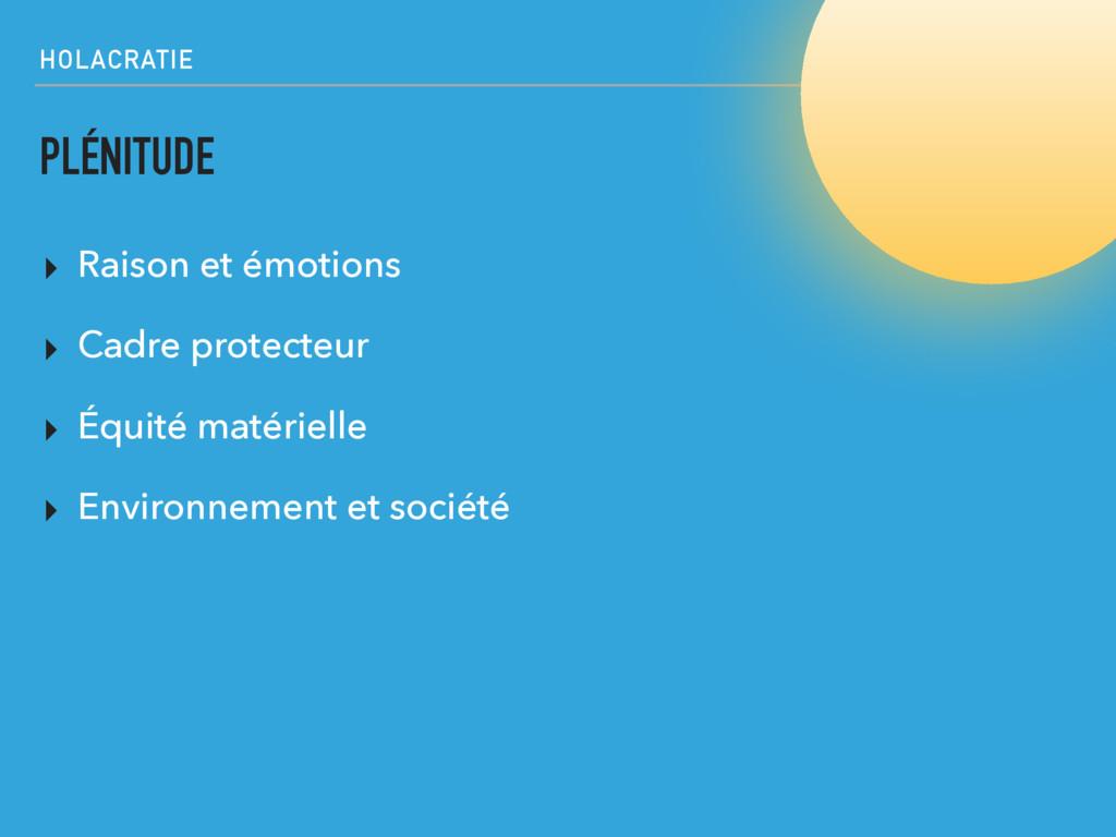 HOLACRATIE PLÉNITUDE ▸ Raison et émotions ▸ Cad...