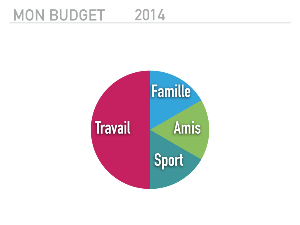 2014 Travail Sport Amis Famille MON BUDGET