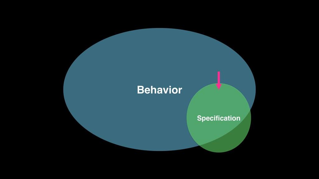 Behavior Specification