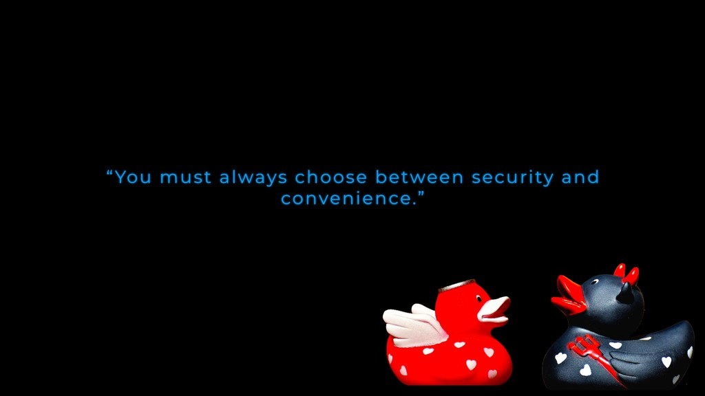 """""""You must always choose between security and co..."""