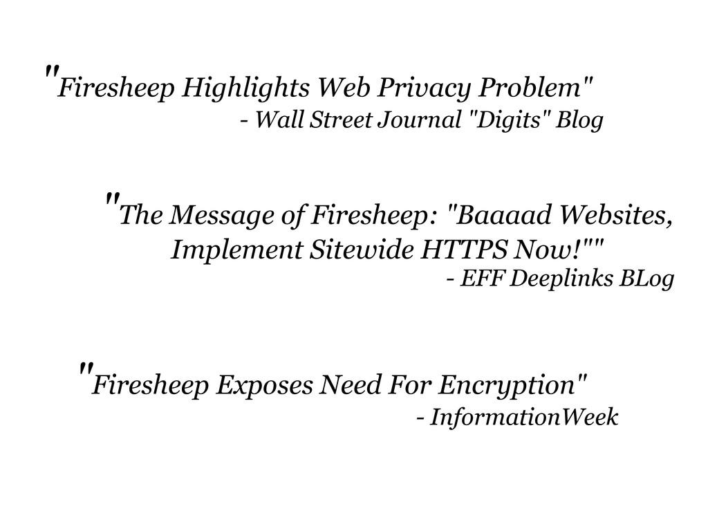 """Firesheep Highlights Web Privacy Problem"" - Wa..."