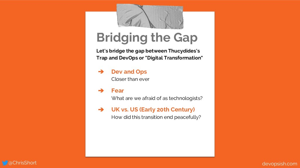 Bridging the Gap Let's bridge the gap between T...