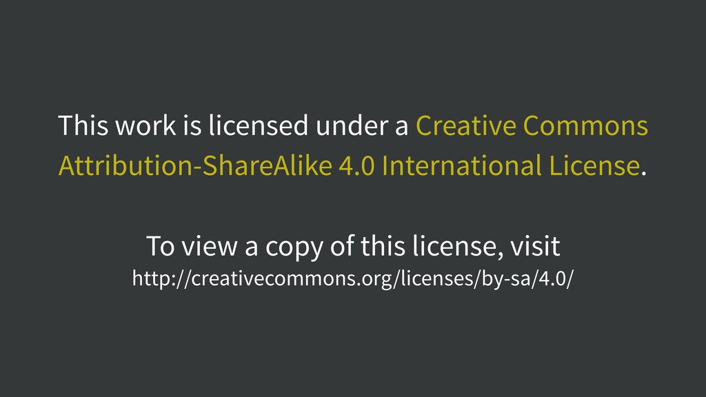 This work is licensed under a Creative Commons ...
