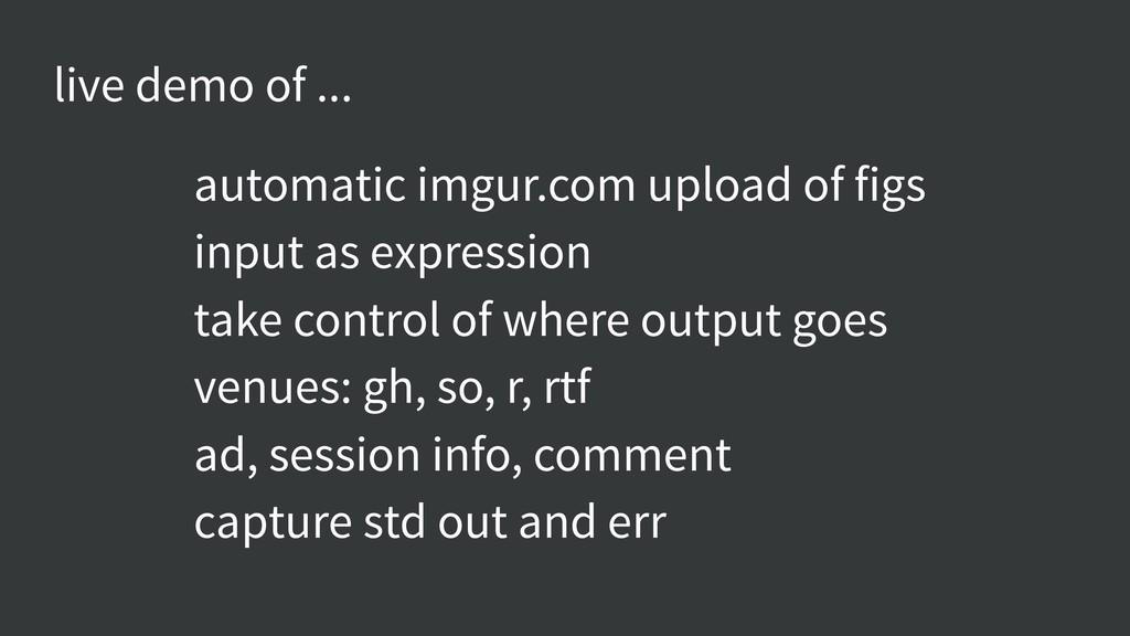 live demo of ... automatic imgur.com upload of ...