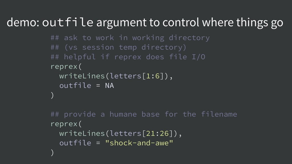 demo: outfile argument to control where things ...