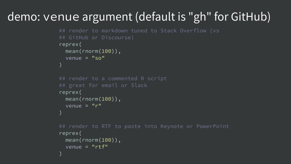 """demo: venue argument (default is """"gh"""" for GitHu..."""