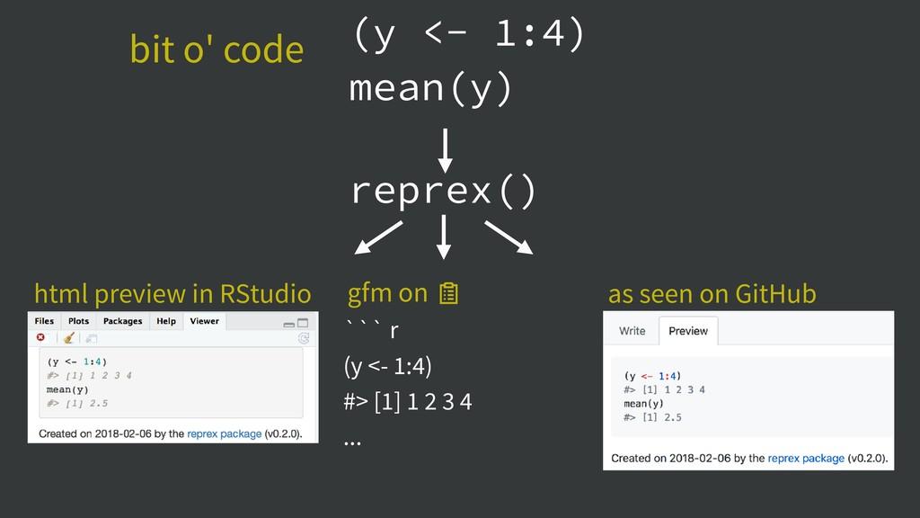 (y <- 1:4) mean(y) ``` r (y <- 1:4) #> [1] 1 2 ...