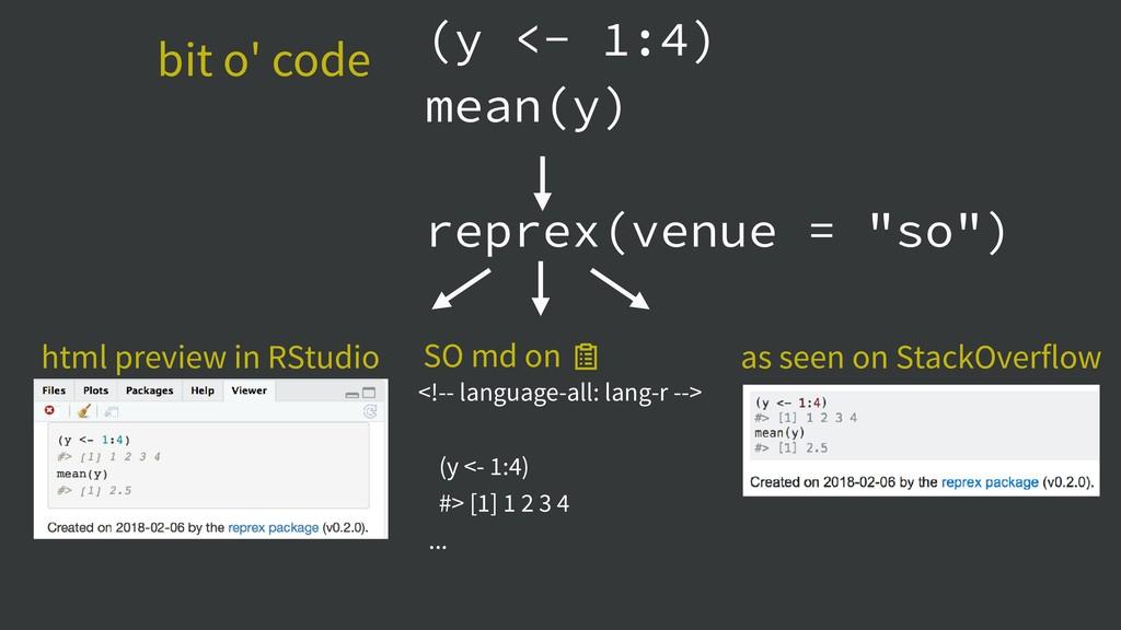 (y <- 1:4) mean(y) <!-- language-all: lang-r --...