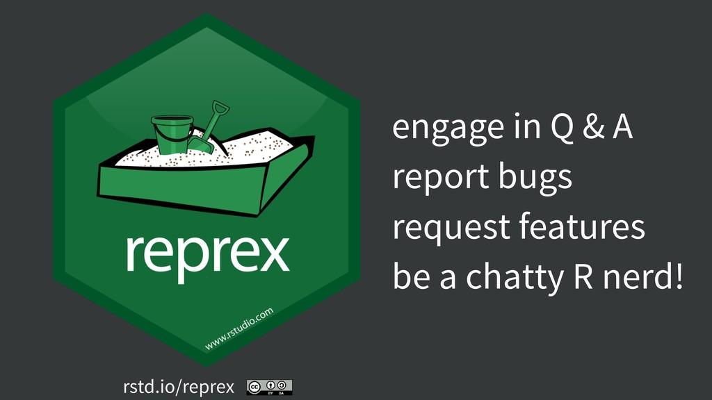 rstd.io/reprex engage in Q & A report bugs requ...
