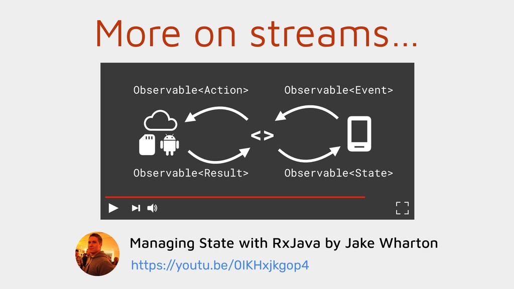 More on streams… Managing State with RxJava by ...