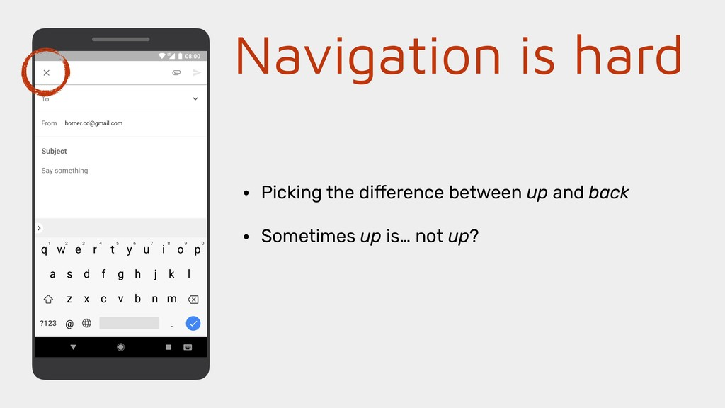 Navigation is hard • Picking the difference bet...