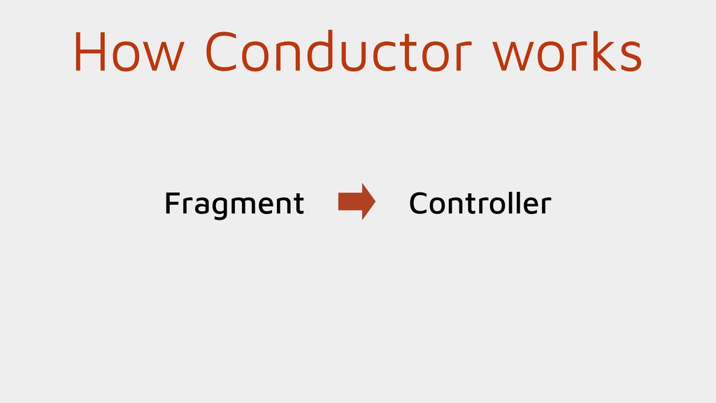 How Conductor works Fragment Controller