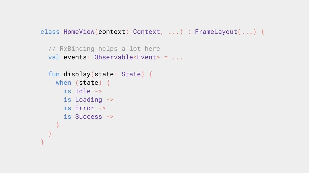 class HomeView(context: Context, ...) : FrameLa...