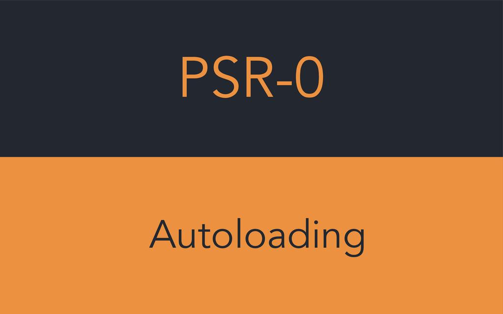 PSR-0 Autoloading