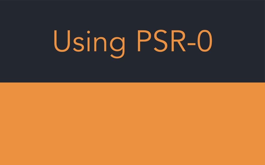 Using PSR-0