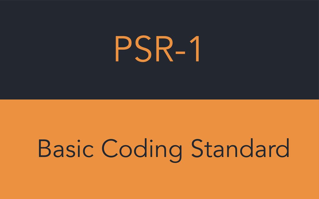 PSR-1 Basic Coding Standard