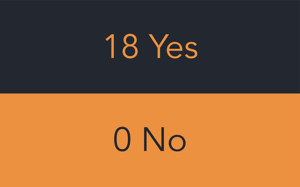 18 Yes 0 No
