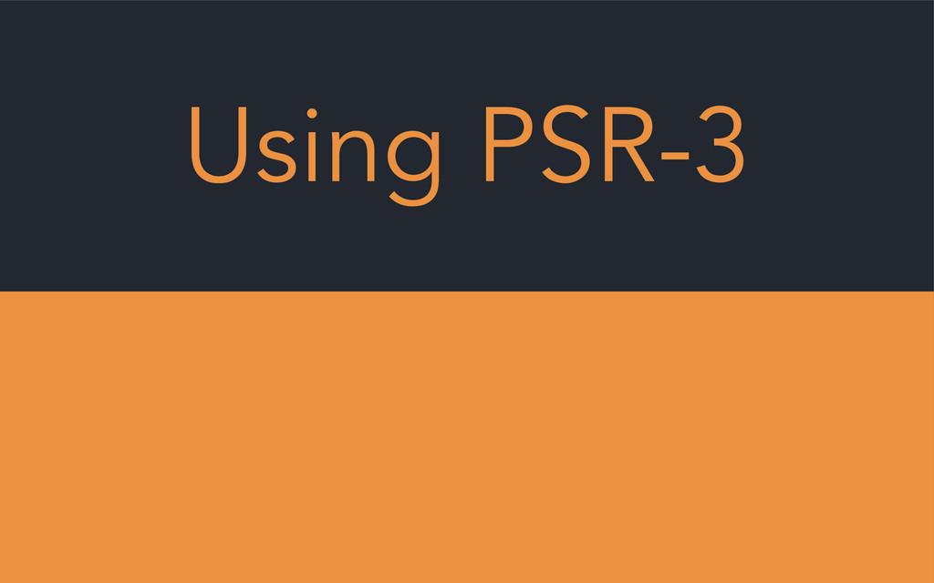 Using PSR-3