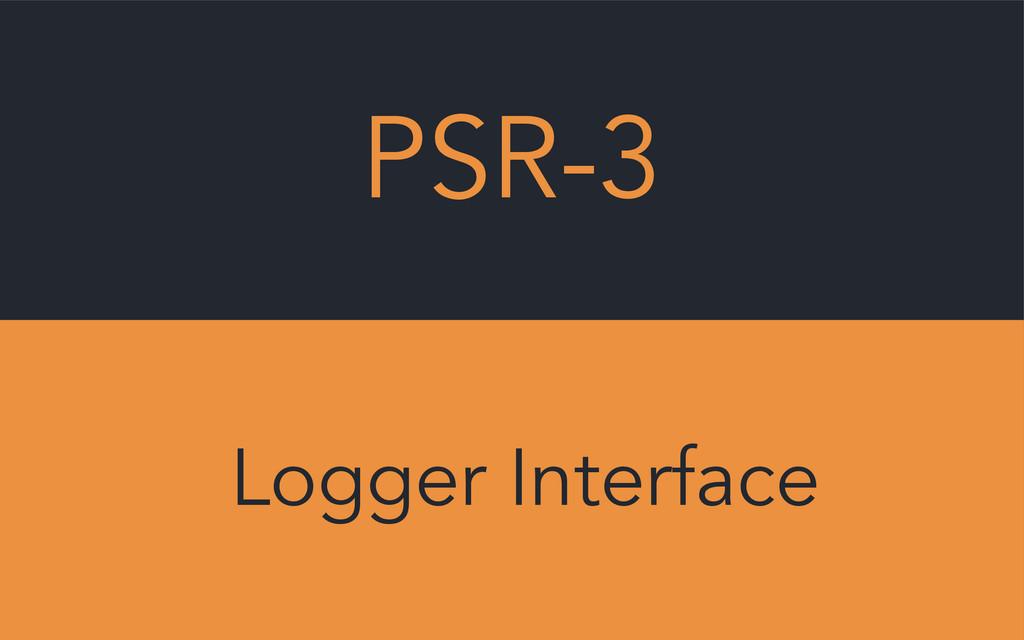 PSR-3 Logger Interface
