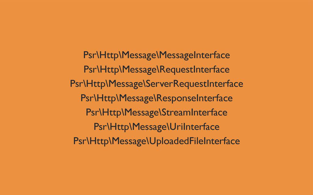 Psr\Http\Message\MessageInterface Psr\Http\Mess...