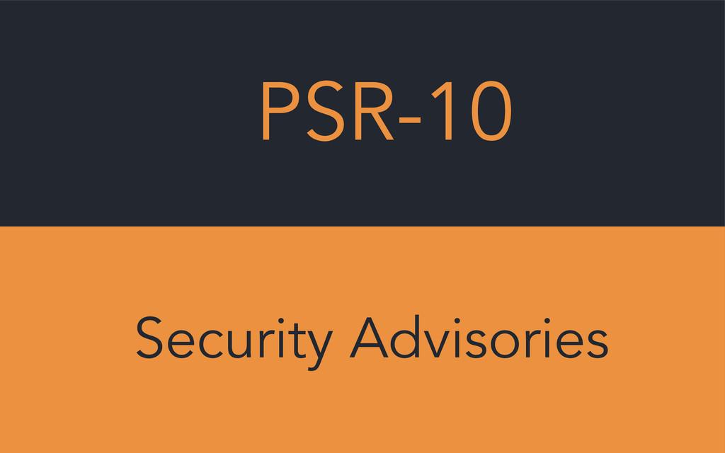 PSR-10 Security Advisories