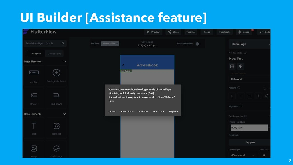 UI Builder [Assistance feature]