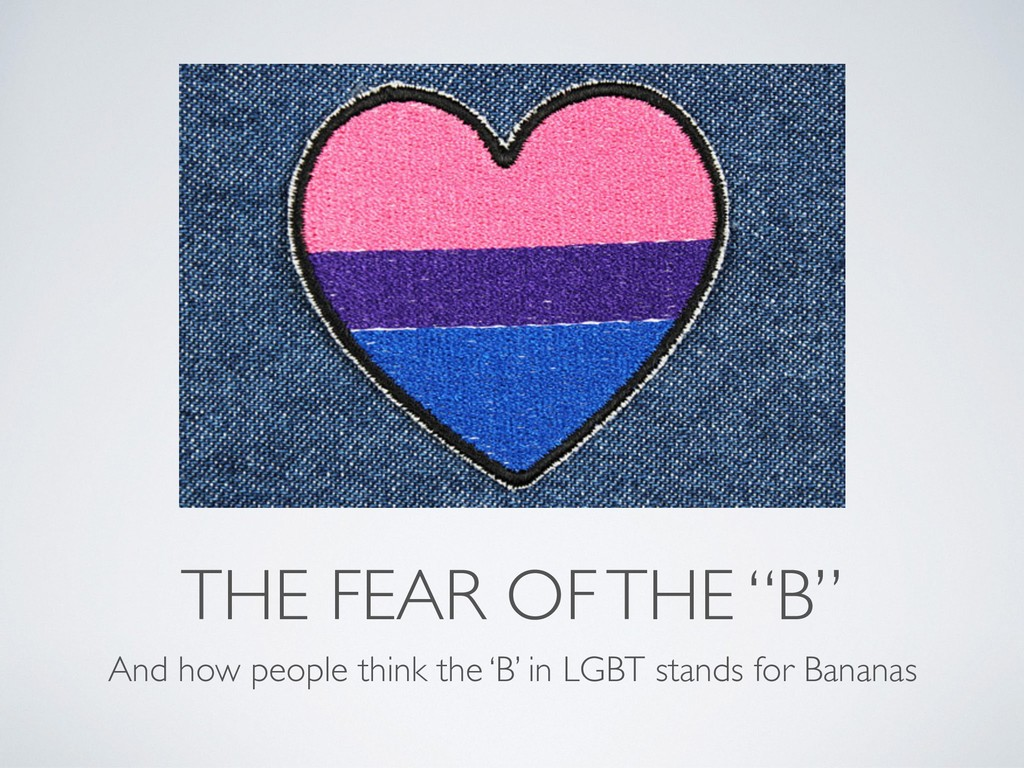 """THE FEAR OF THE """"B"""" And how people think the 'B..."""