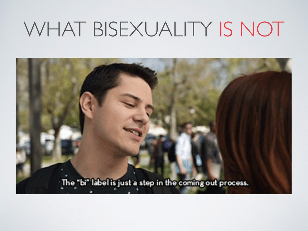 WHAT BISEXUALITY IS NOT