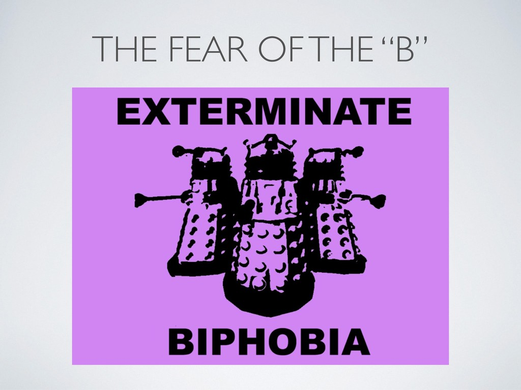 """THE FEAR OF THE """"B"""""""