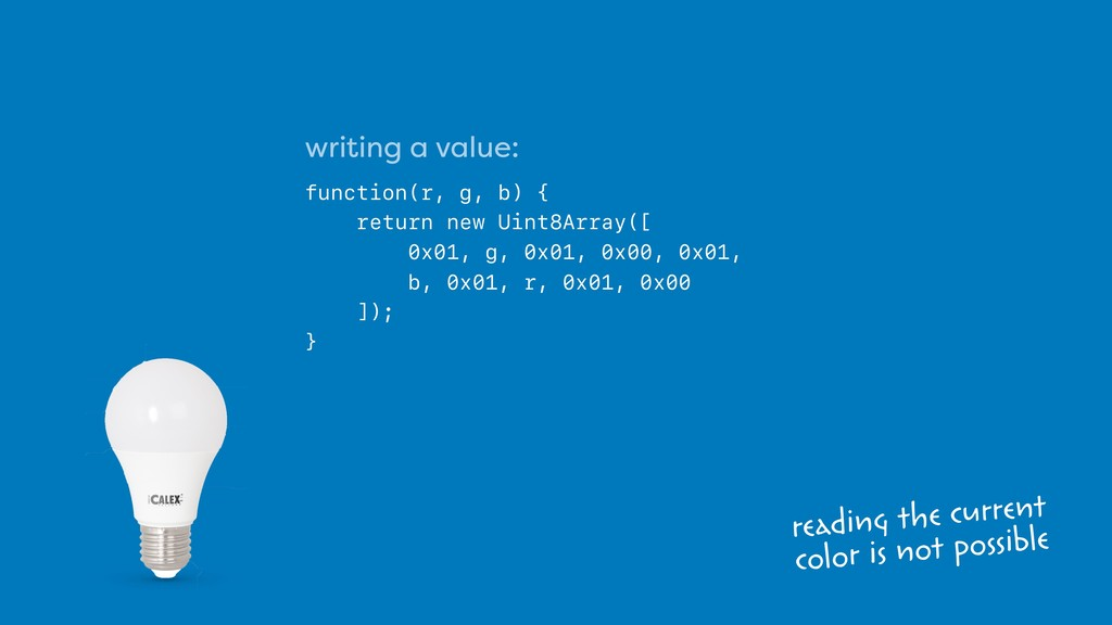 writing a value: function(r, g, b) { return new...