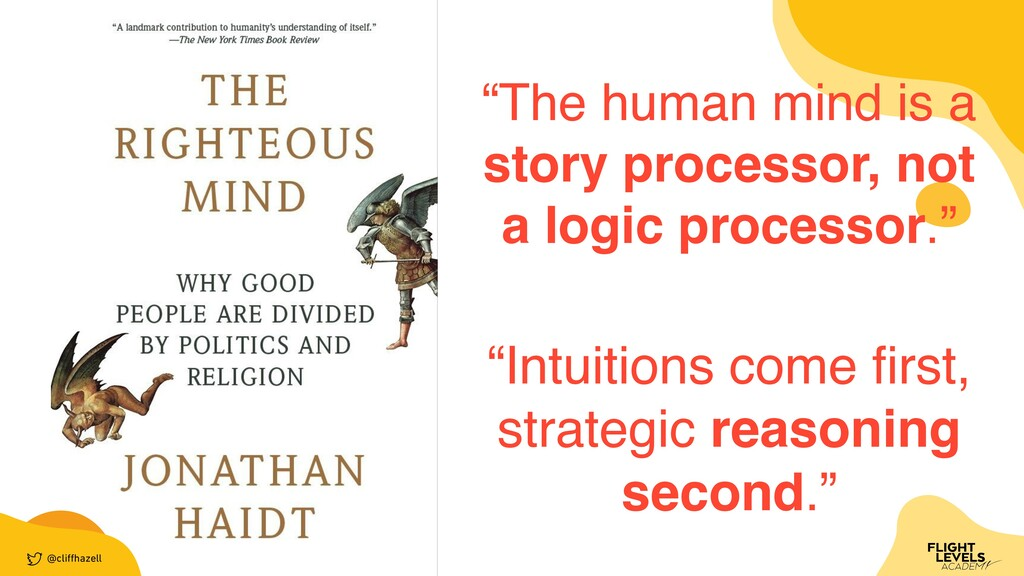 "@cli ff hazell ""The human mind is a story proce..."