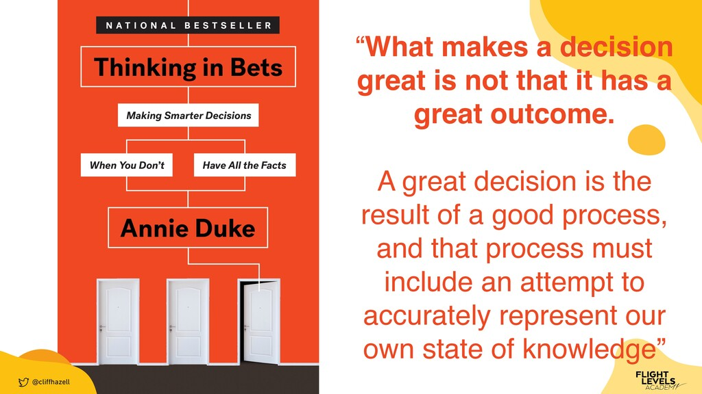"""@cli ff hazell """"What makes a decision great is ..."""