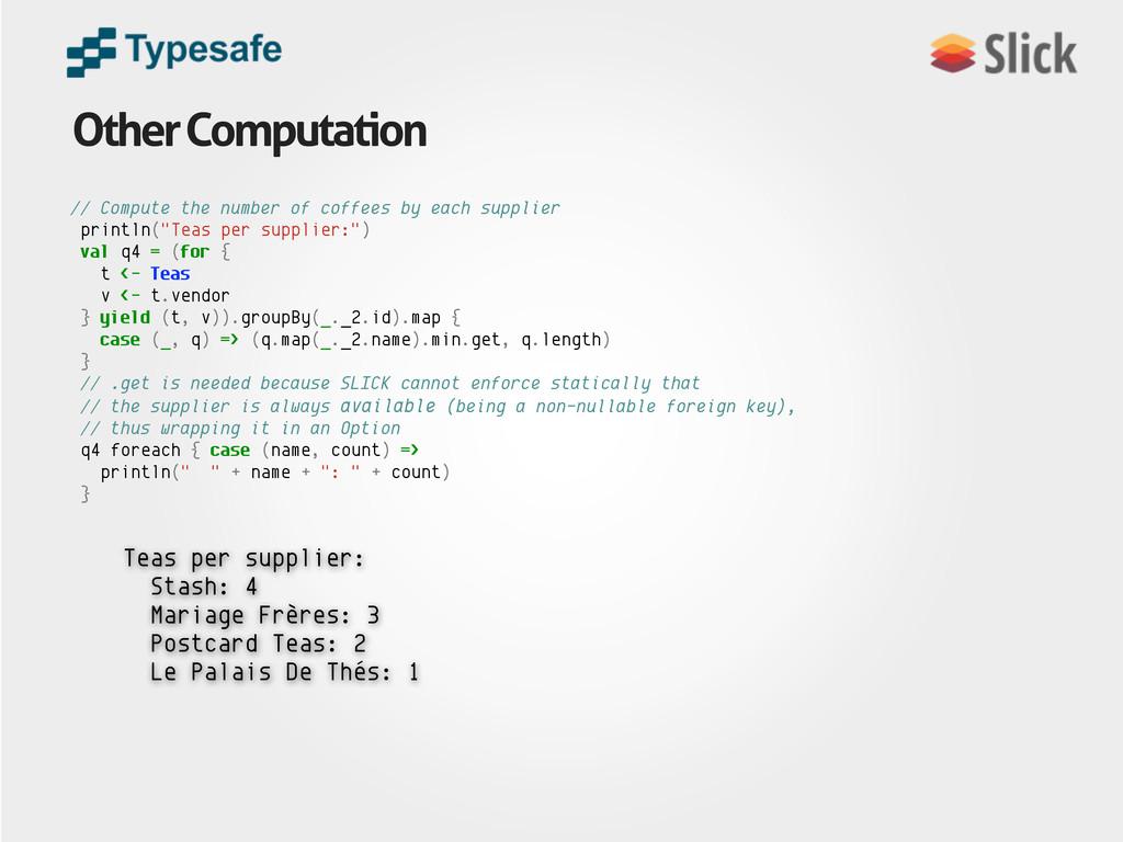 Other Computation Teas per supplier: Stash: 4 M...