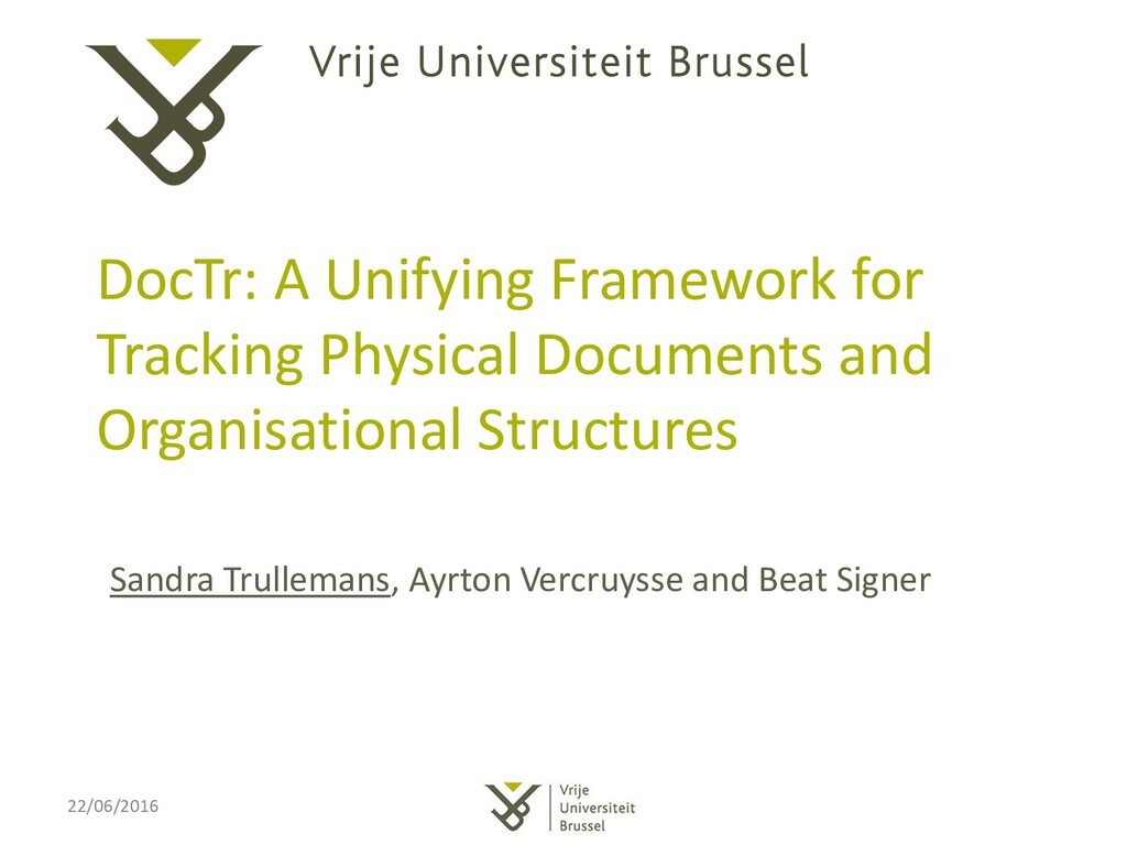 DocTr: A Unifying Framework for Tracking Physic...