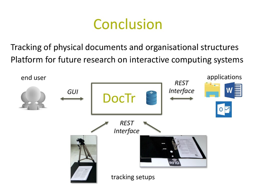Conclusion DocTr end user applications tracking...