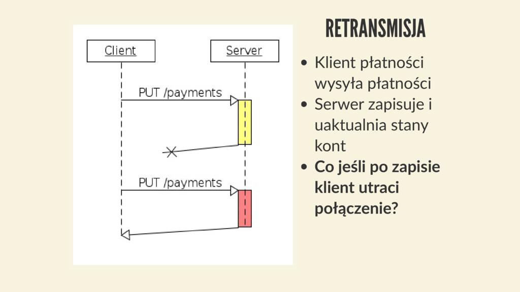 RETRANSMISJA Klient płatności wysyła płatności ...